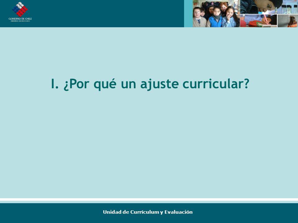 Unidad de Currículum y Evaluación I. ¿Por qué un ajuste curricular?