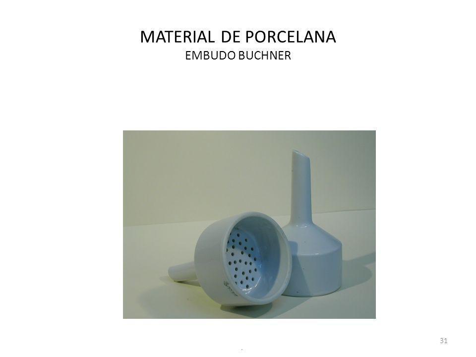 MATERIAL DE PORCELANA EMBUDO BUCHNER 31.