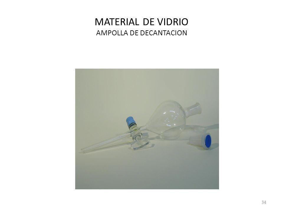 MATERIAL DE VIDRIO AMPOLLA DE DECANTACION 34
