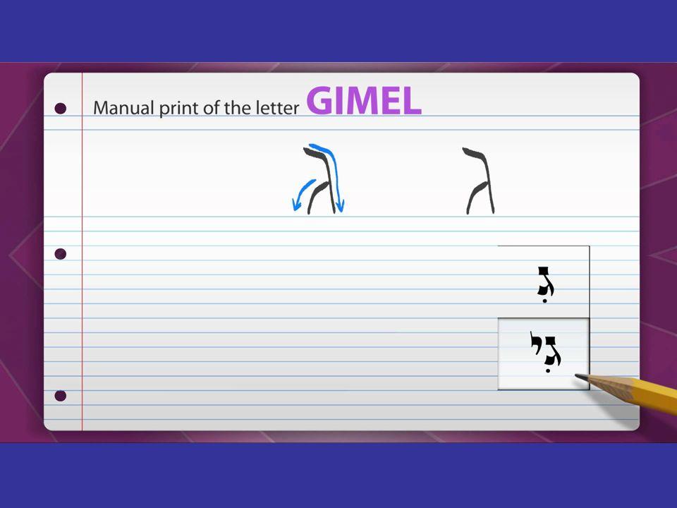 Diversas formas de escritura de la letra siríaca «gamal»