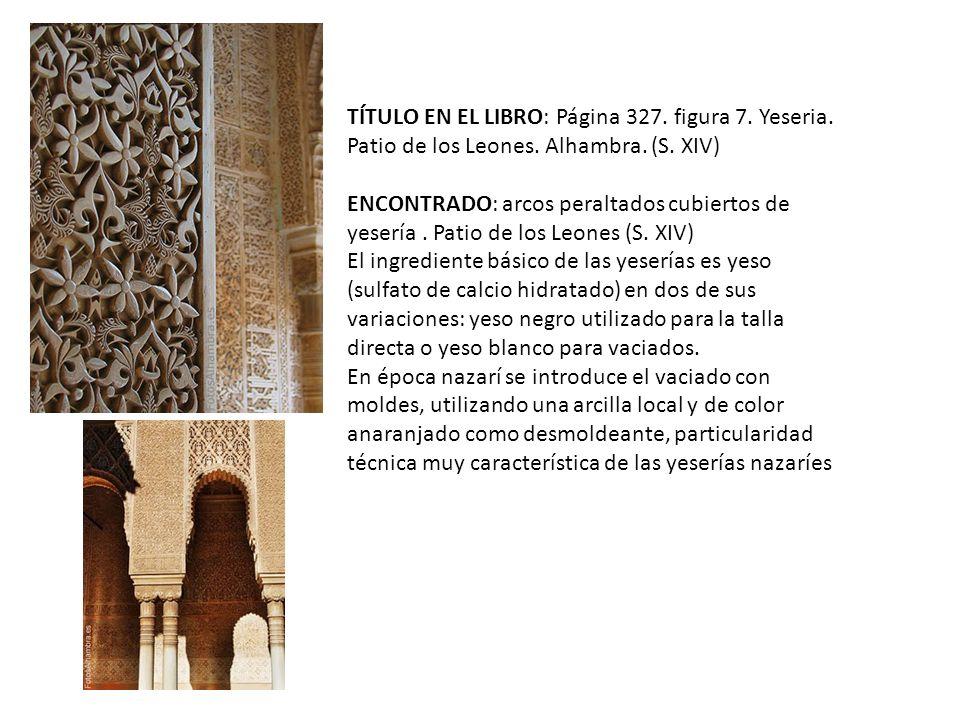 TÍTULO EN EL LIBRO: Página 327.figura 7. Yeseria.