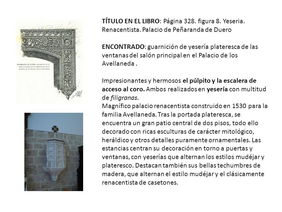 TÍTULO EN EL LIBRO: Página 328.figura 8. Yeseria.