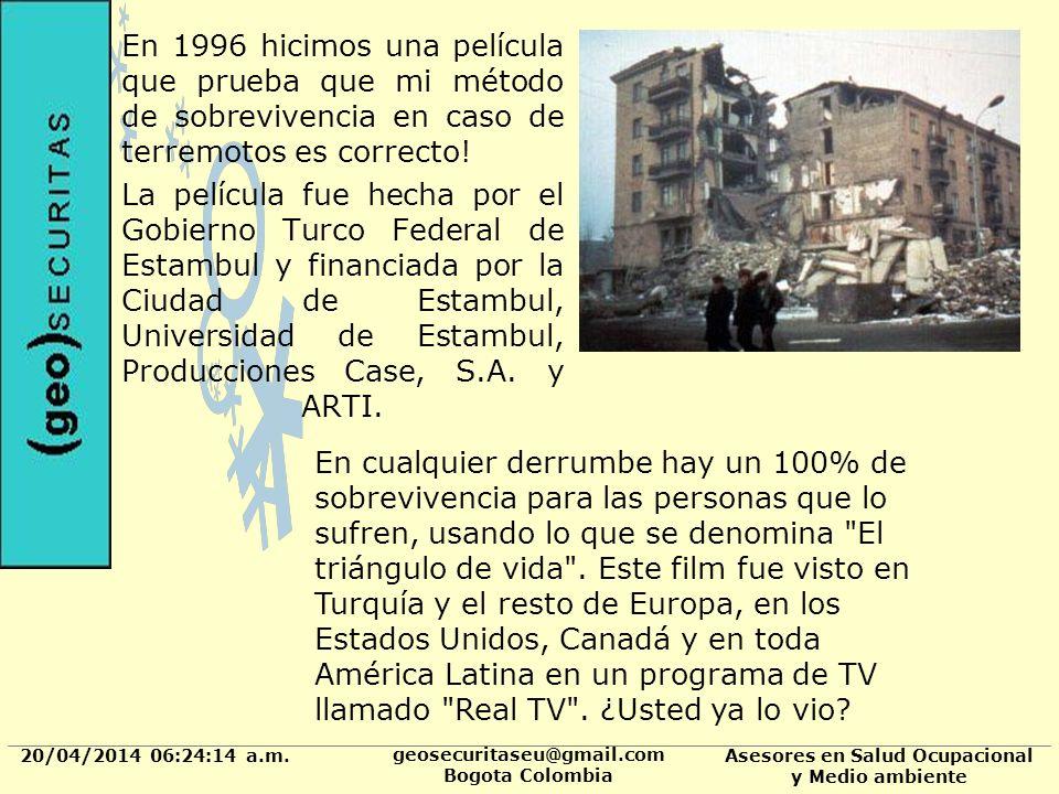 20/04/2014 06:24:37 a.m. geosecuritaseu@gmail.com Bogota Colombia Asesores en Salud Ocupacional y Medio ambiente En 1996 hicimos una película que prue