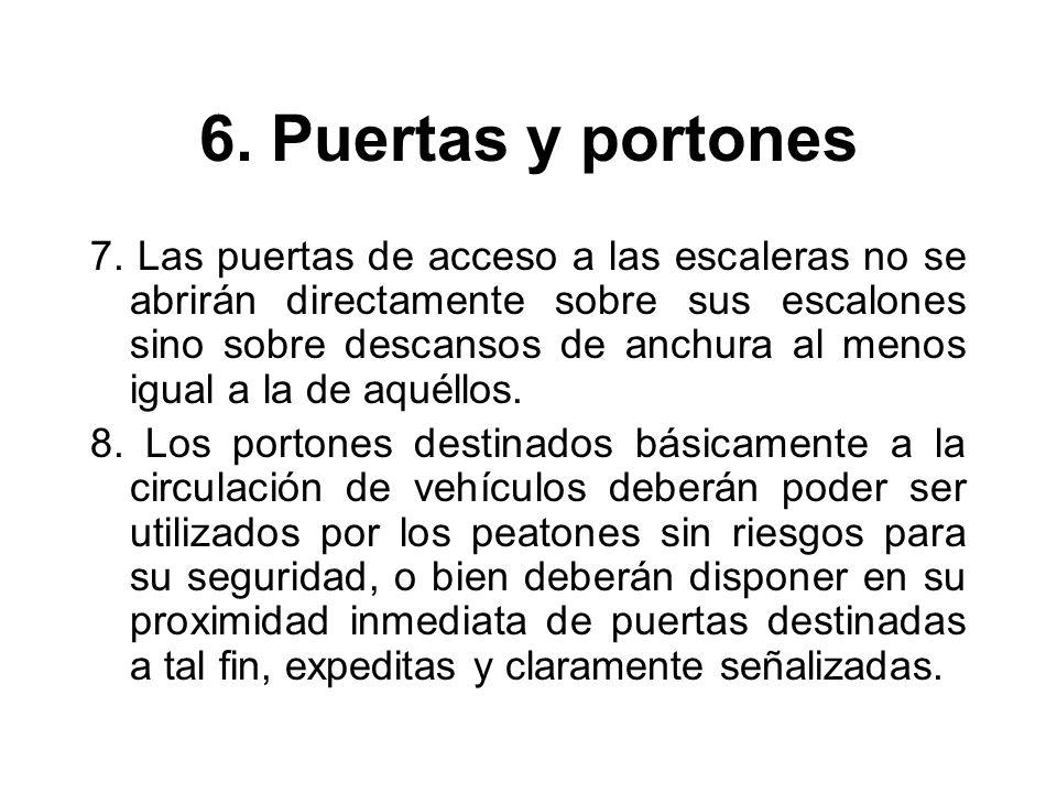 6.Puertas y portones 7.
