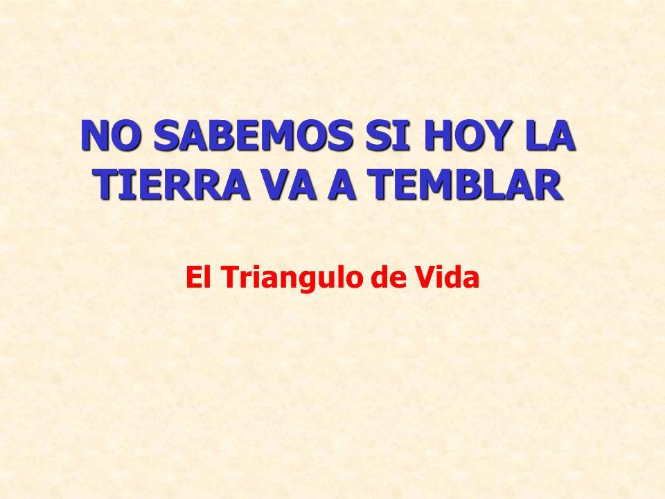 NO SABEMOS SI HOY LA TIERRA VA A TEMBLAR El Triangulo de Vida