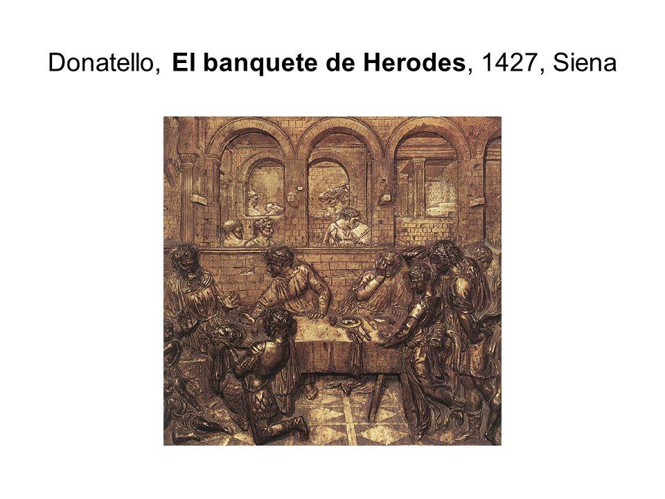 Donatello, El banquete de Herodes, 1427, Siena