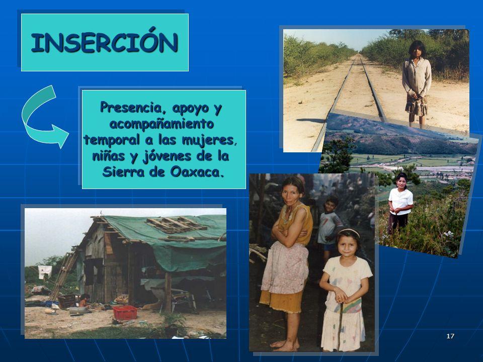 18 ACOGIDA en nuestra casa a las jóvenes que vienen de la Sierra de Oaxaca de Oaxaca ACOGIDA en nuestra casa a las jóvenes que vienen de la Sierra de Oaxaca