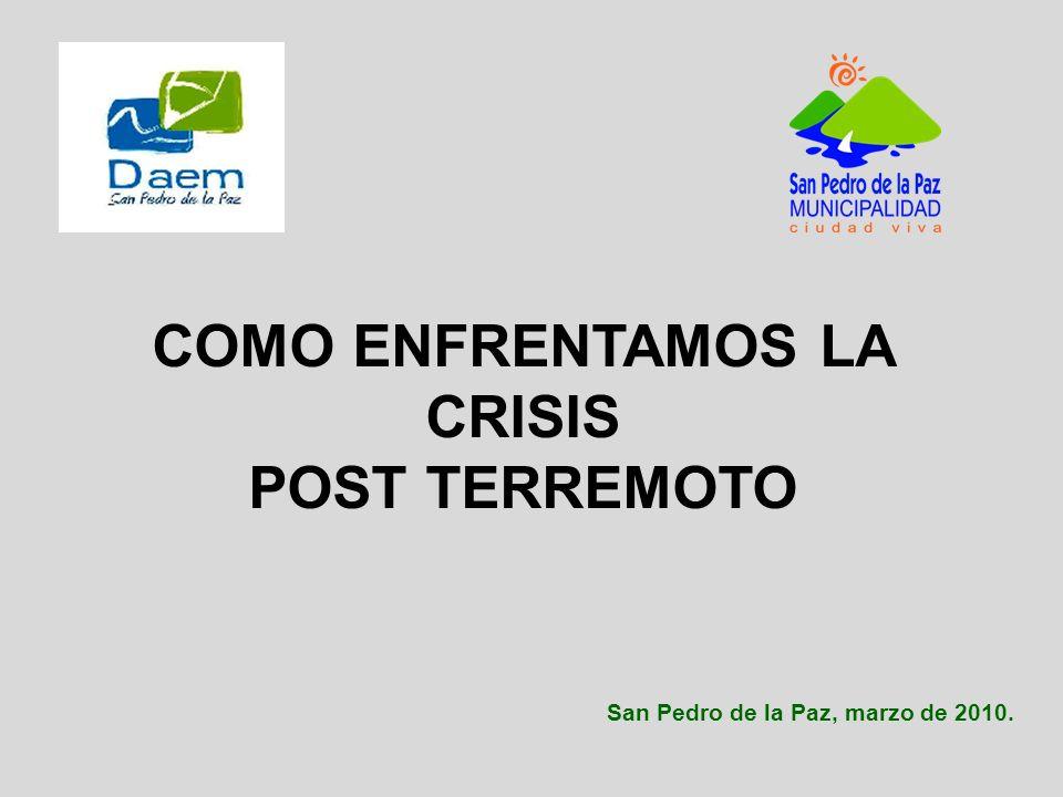 San Pedro de la Paz, marzo de 2010. COMO ENFRENTAMOS LA CRISIS POST TERREMOTO