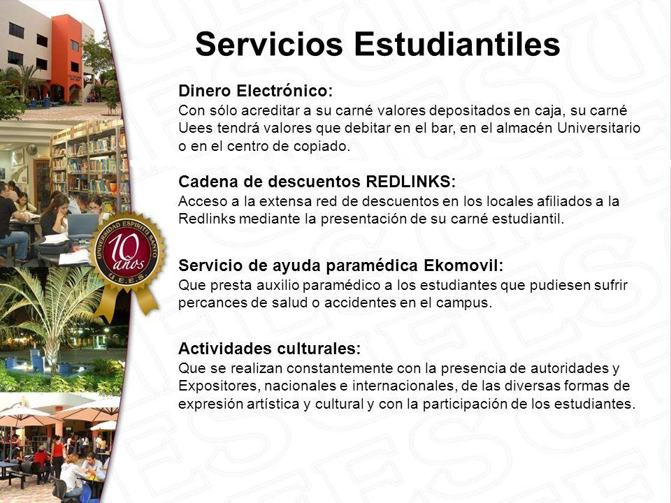 Cadena de descuentos REDLINKS: Acceso a la extensa red de descuentos en los locales afiliados a la Redlinks mediante la presentación de su carné estudiantil.