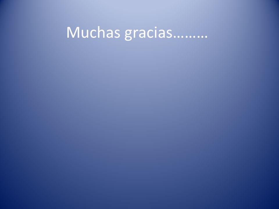 Muchas gracias………