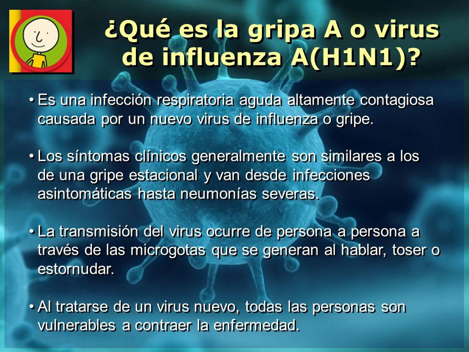 Es una infección respiratoria aguda altamente contagiosa causada por un nuevo virus de influenza o gripe. Los síntomas clínicos generalmente son simil