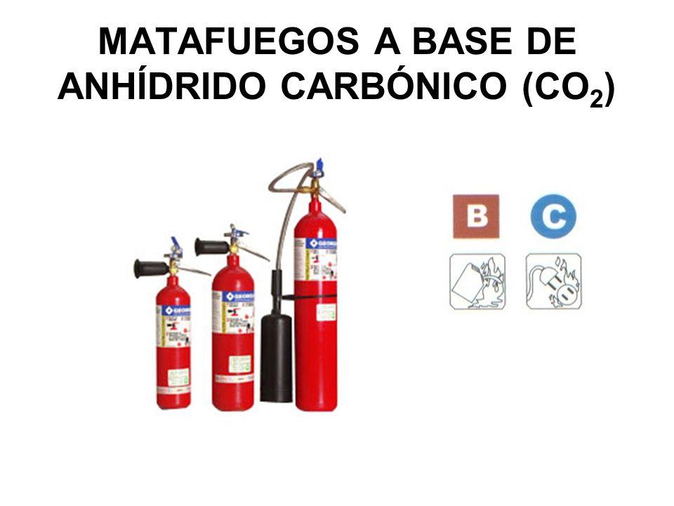 MATAFUEGOS A BASE DE ANHÍDRIDO CARBÓNICO (CO 2 )
