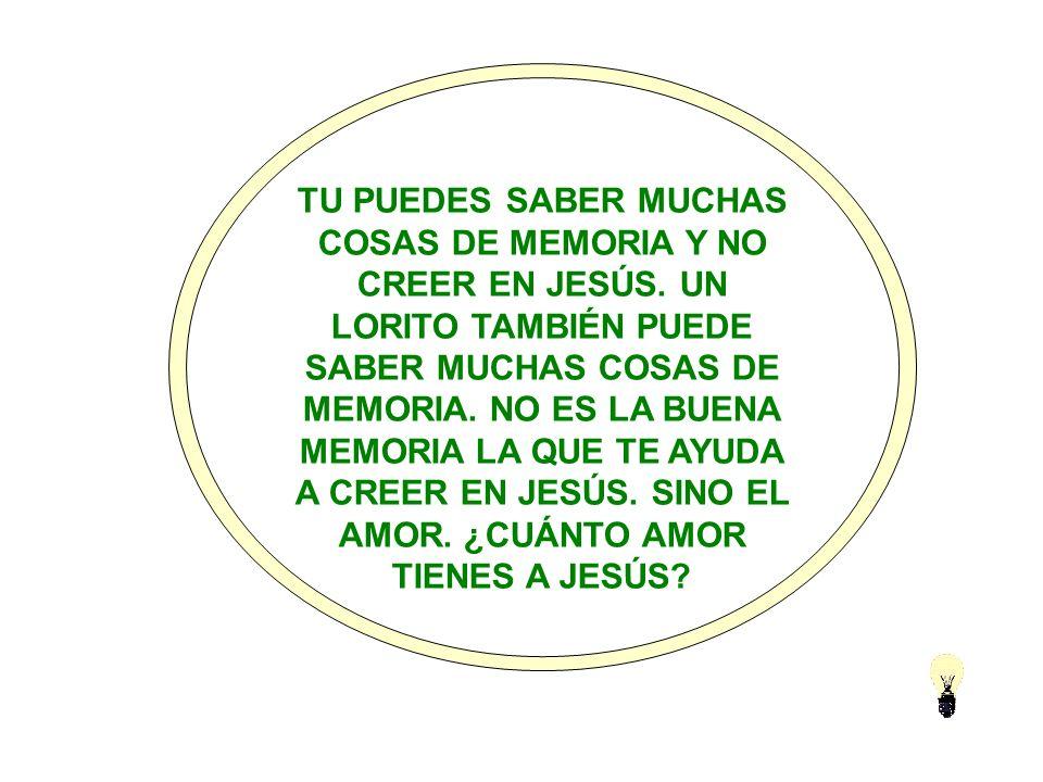 NO SIEMPRE QUIEN REZA Y REZA ES PORQUE CREE EN JESÚS.