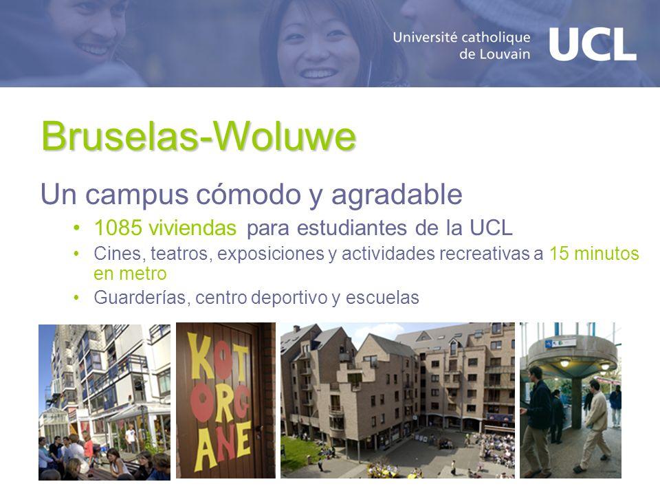 Bruselas-Woluwe Un campus cómodo y agradable 1085 viviendas para estudiantes de la UCL Cines, teatros, exposiciones y actividades recreativas a 15 min