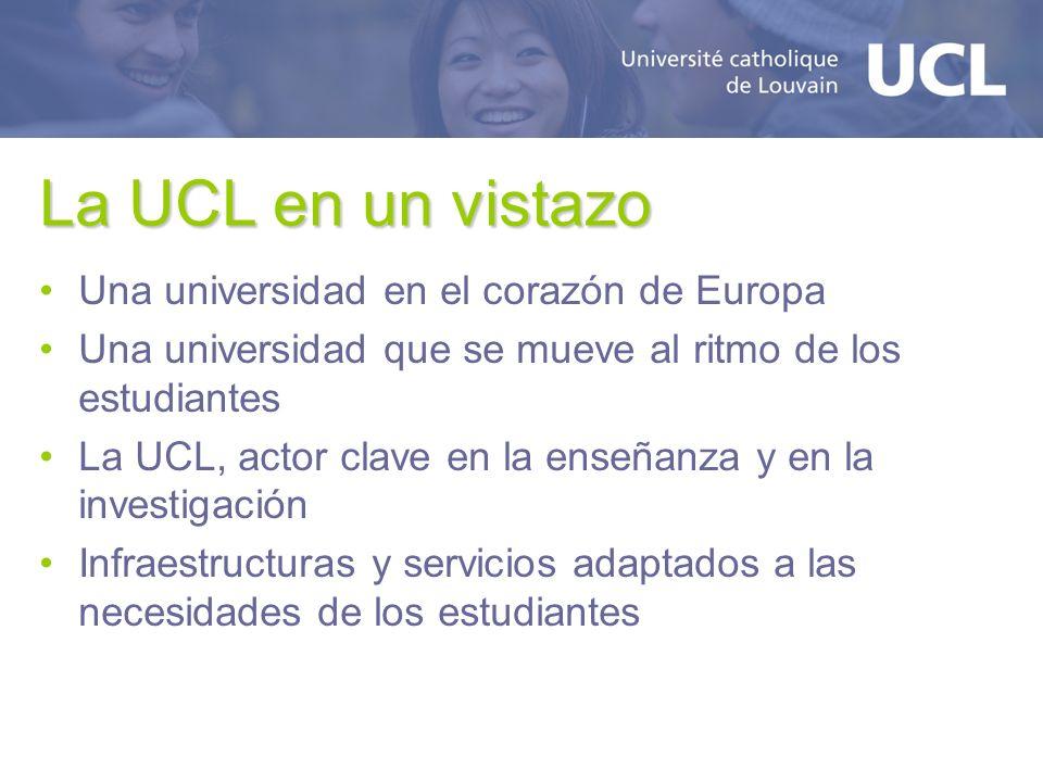 La UCL en un vistazo Una universidad en el corazón de Europa Una universidad que se mueve al ritmo de los estudiantes La UCL, actor clave en la enseña