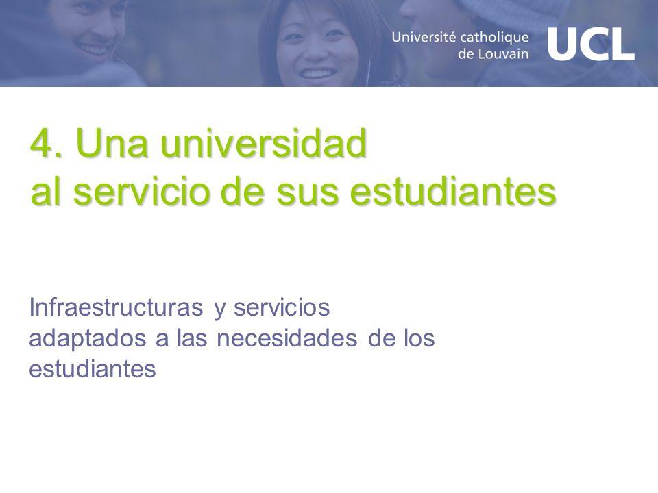 4. Una universidad al servicio de sus estudiantes Infraestructuras y servicios adaptados a las necesidades de los estudiantes
