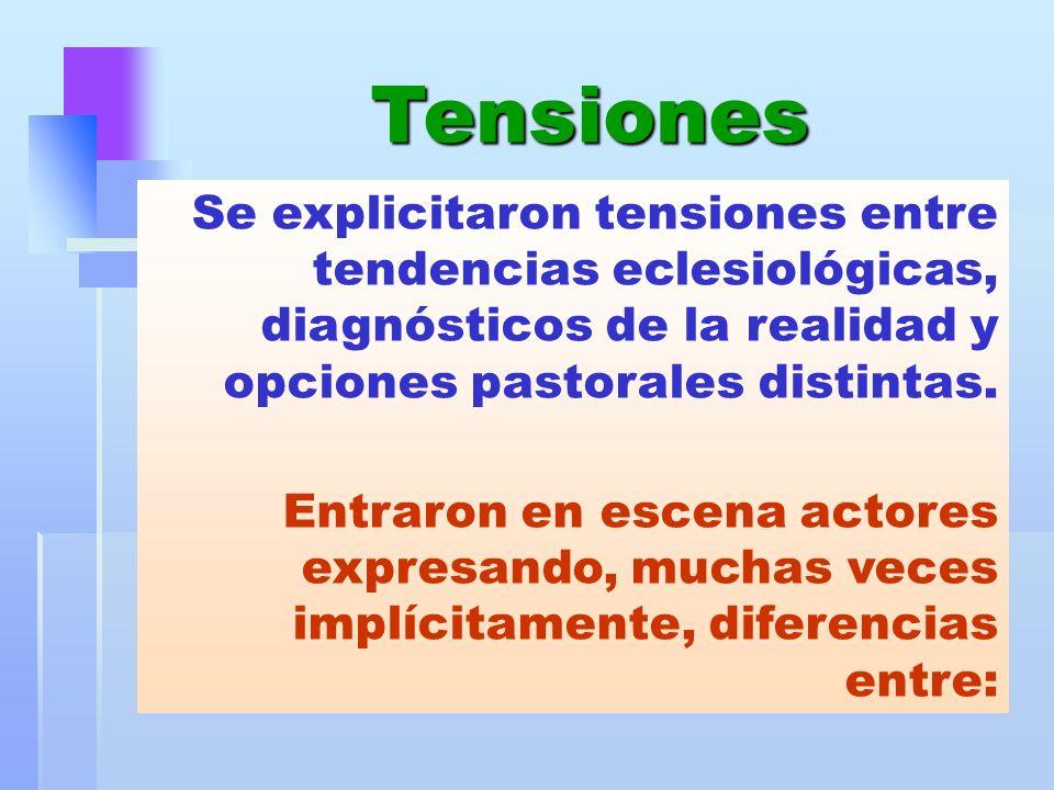 Se explicitaron tensiones entre tendencias eclesiológicas, diagnósticos de la realidad y opciones pastorales distintas. Entraron en escena actores exp