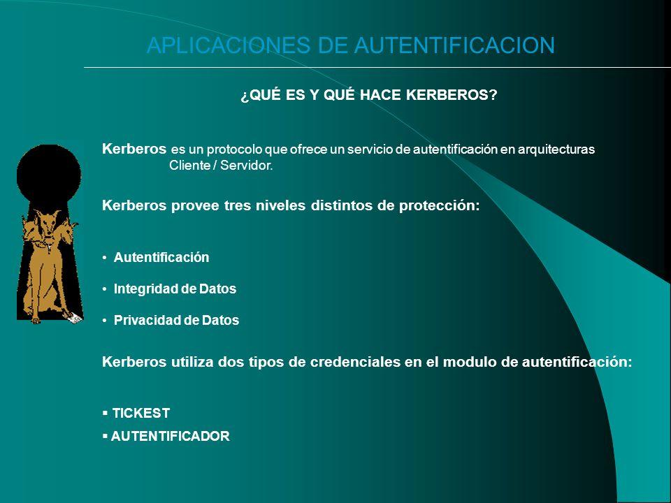 APLICACIONES DE AUTENTIFICACION ¿QUÉ ES Y QUÉ HACE KERBEROS.