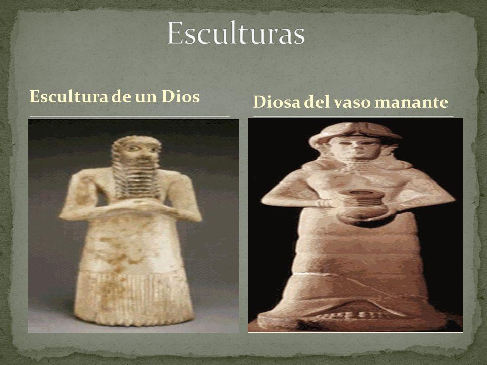 Escultura de un Dios Diosa del vaso manante