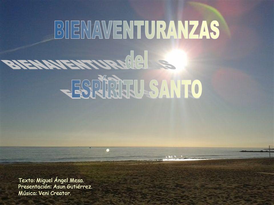 Texto: Miguel Ángel Mesa. Presentación: Asun Gutiérrez. Música: Veni Creator.