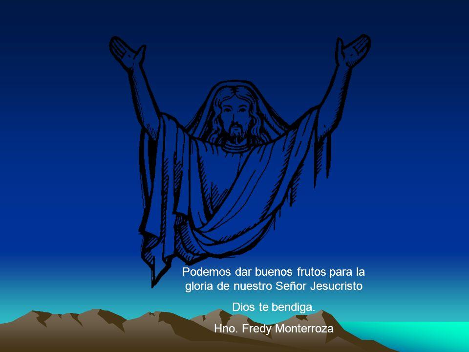 Podemos dar buenos frutos para la gloria de nuestro Señor Jesucristo Dios te bendiga. Hno. Fredy Monterroza