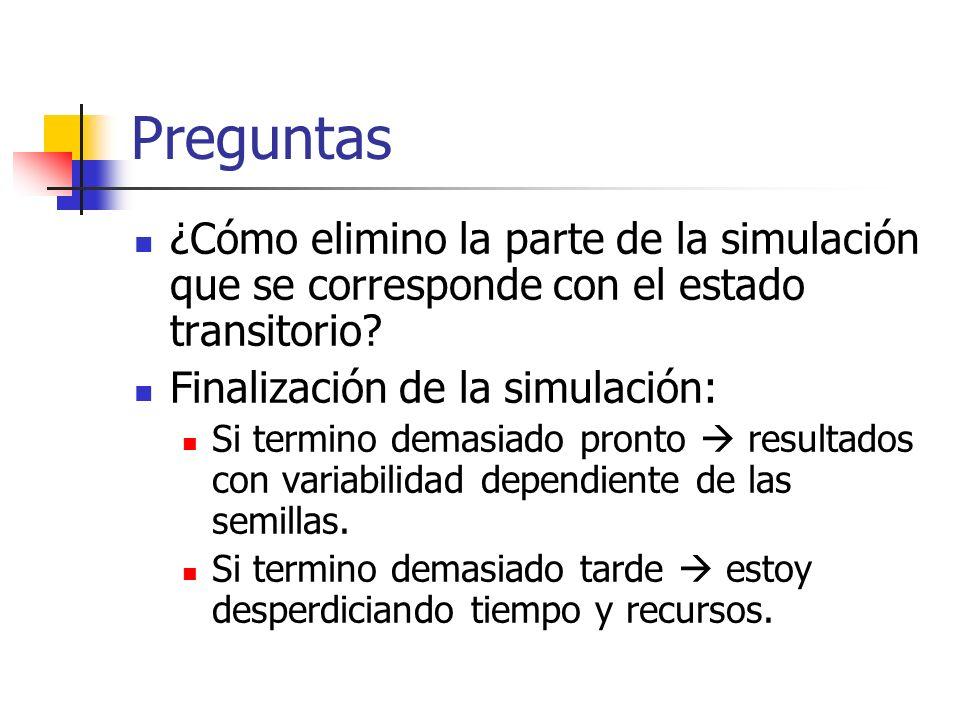 Preguntas ¿Cómo elimino la parte de la simulación que se corresponde con el estado transitorio.