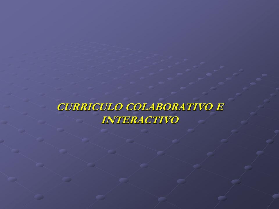 CURRICULO COLABORATIVO E INTERACTIVO