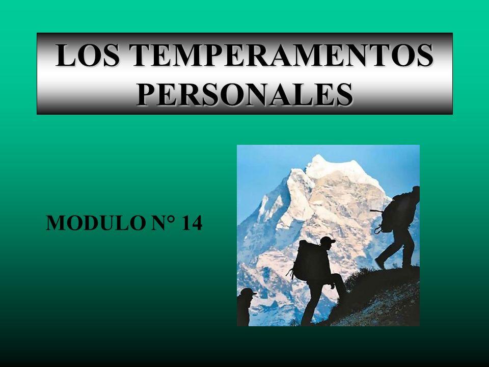 LOS TEMPERAMENTOS PERSONALES MODULO N° 14