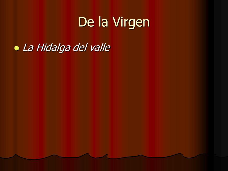 De la Virgen La Hidalga del valle La Hidalga del valle