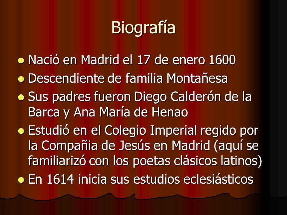 Biografía Nació en Madrid el 17 de enero 1600 Nació en Madrid el 17 de enero 1600 Descendiente de familia Montañesa Descendiente de familia Montañesa