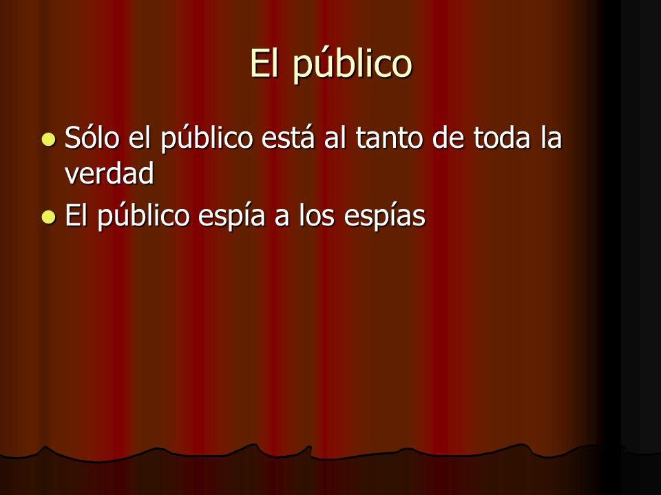 El público Sólo el público está al tanto de toda la verdad Sólo el público está al tanto de toda la verdad El público espía a los espías El público es