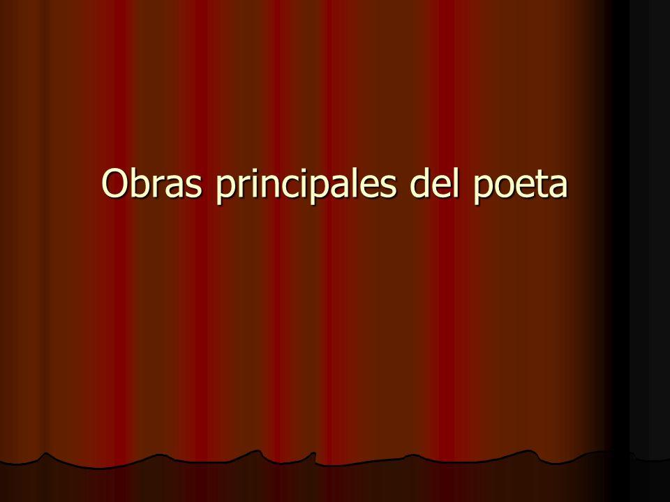 Obras principales del poeta