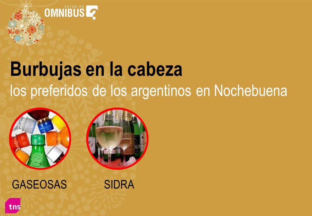 Burbujas en la cabeza los preferidos de los argentinos en Nochebuena GASEOSASSIDRA