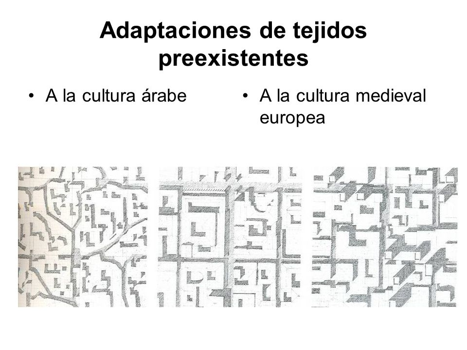 Adaptaciones de tejidos preexistentes A la cultura árabeA la cultura medieval europea