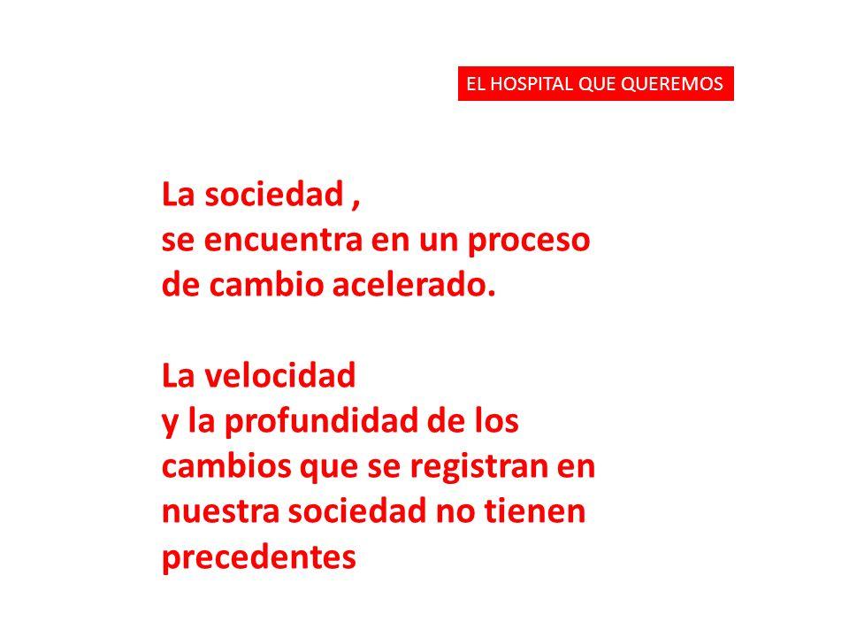 La sociedad, se encuentra en un proceso de cambio acelerado.
