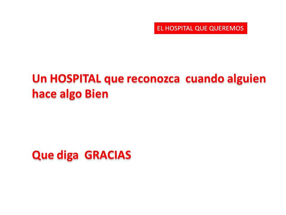 Un HOSPITAL que reconozca cuando alguien hace algo Bien Que diga GRACIAS Un HOSPITAL que reconozca cuando alguien hace algo Bien Que diga GRACIAS EL HOSPITAL QUE QUEREMOS