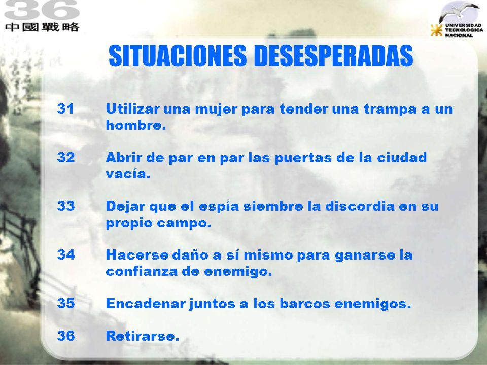 Estrategia 18 Cuando el árbol cae, los monos se dispersan.