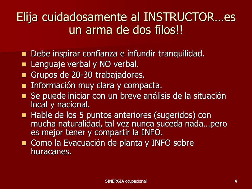 SINERGIA ocupacional15 COMITE DE RELACIONES INDUSTRIALES Y MASS 2009 Gracias por tomar esto en CONSIDERACION !!.