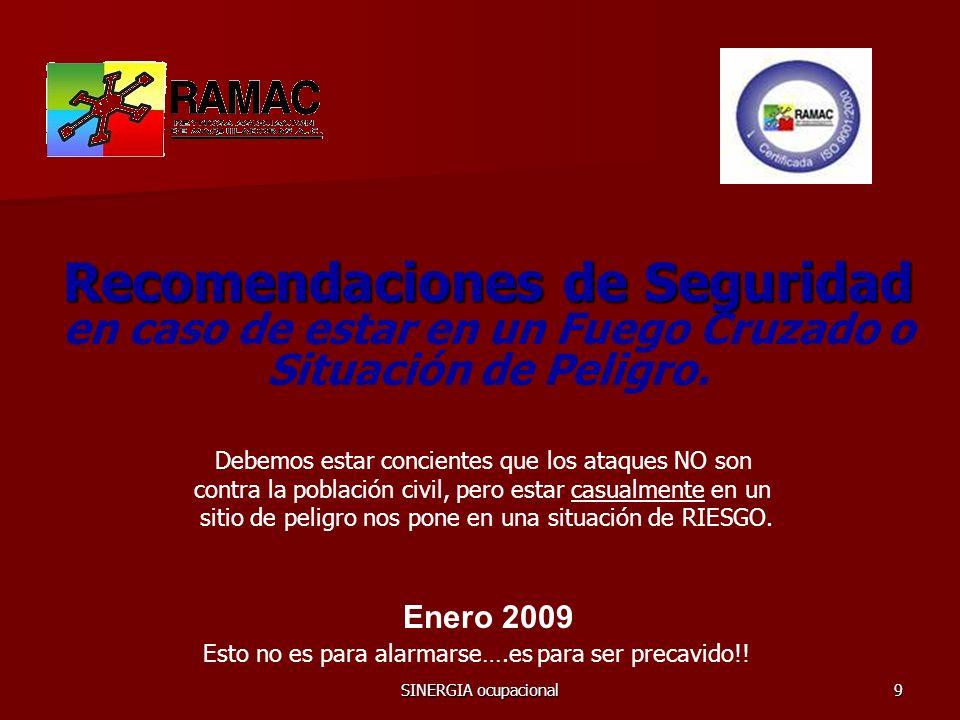 SINERGIA ocupacional10 Comparta la INFO con su familia!.