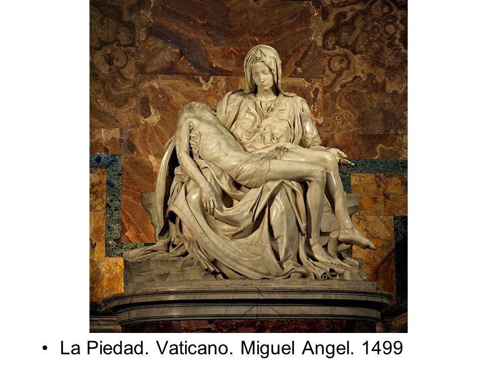 La Piedad. Vaticano. Miguel Angel. 1499