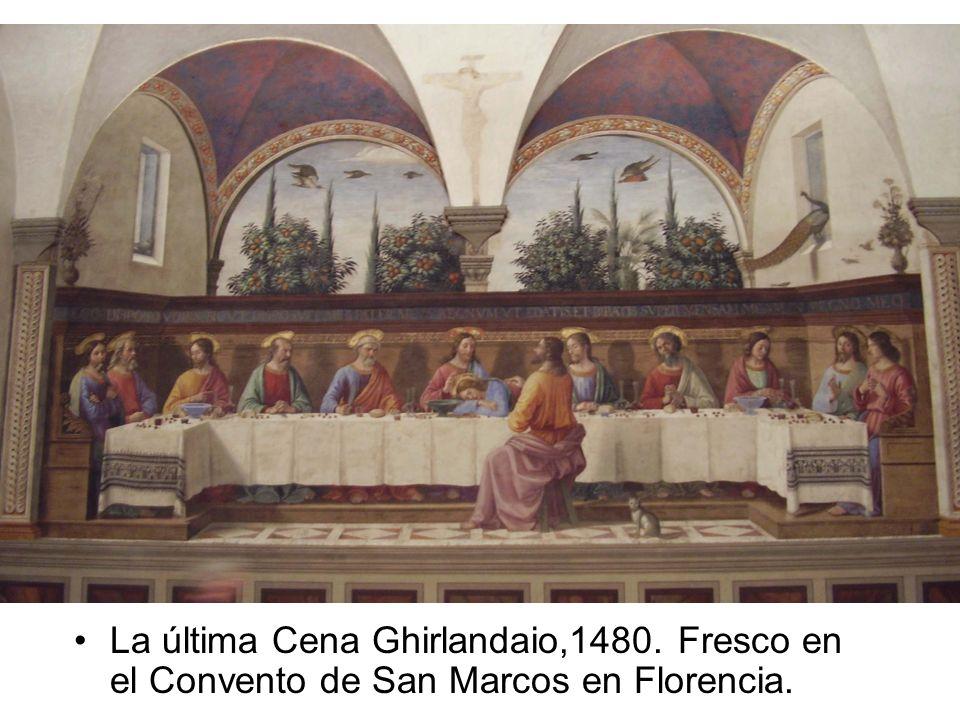 La última Cena Ghirlandaio,1480. Fresco en el Convento de San Marcos en Florencia.