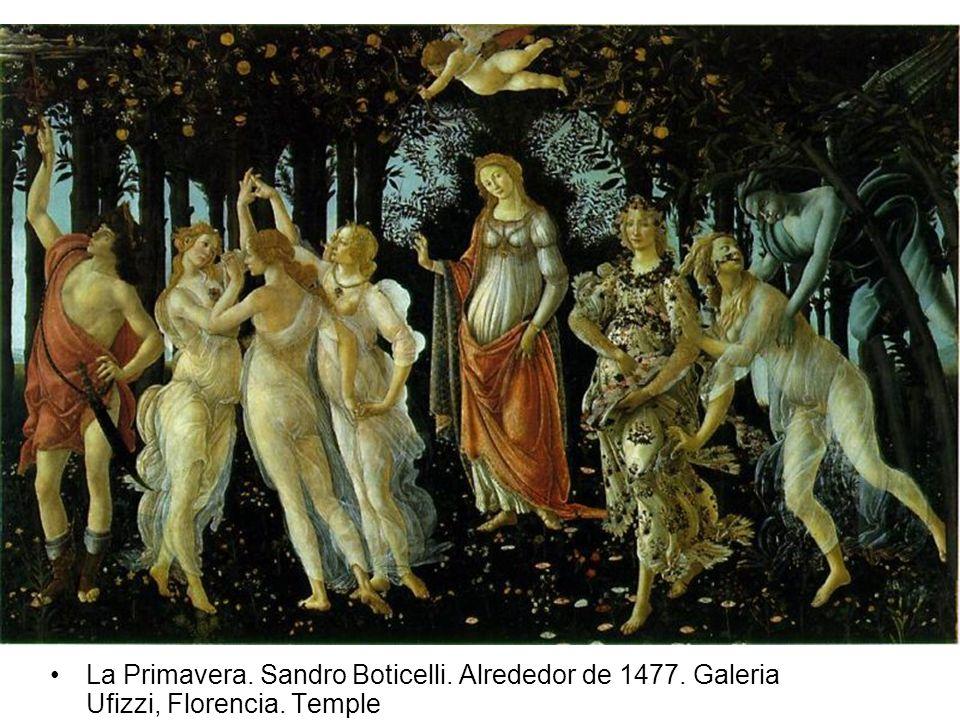 La Primavera. Sandro Boticelli. Alrededor de 1477. Galeria Ufizzi, Florencia. Temple