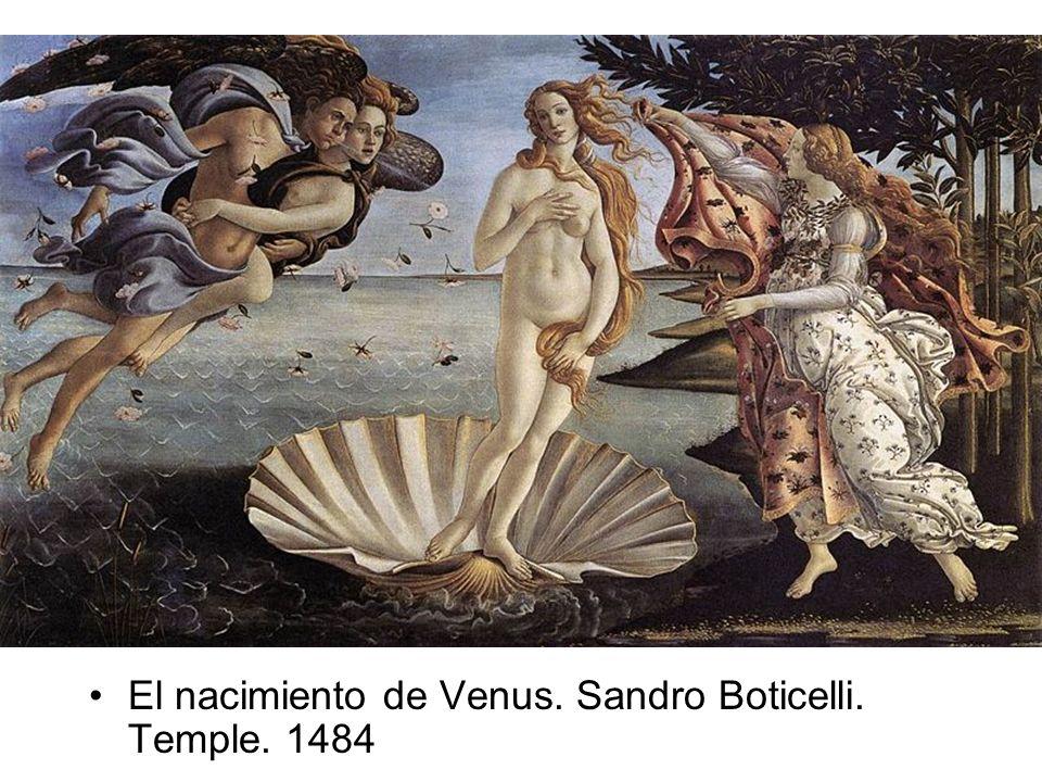 El nacimiento de Venus. Sandro Boticelli. Temple. 1484
