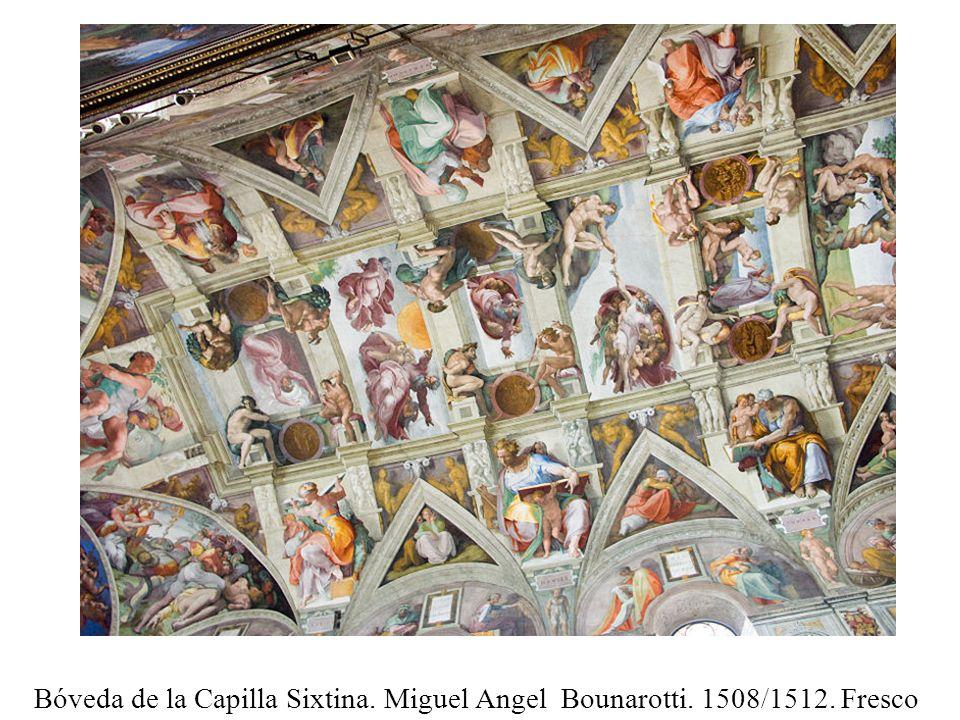 Bóveda de la Capilla Sixtina. Miguel Angel Bounarotti. 1508/1512. Fresco