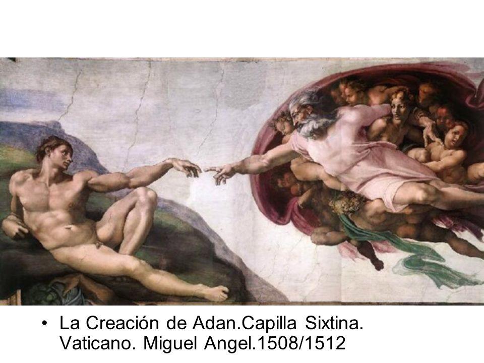 La Creación de Adan.Capilla Sixtina. Vaticano. Miguel Angel.1508/1512