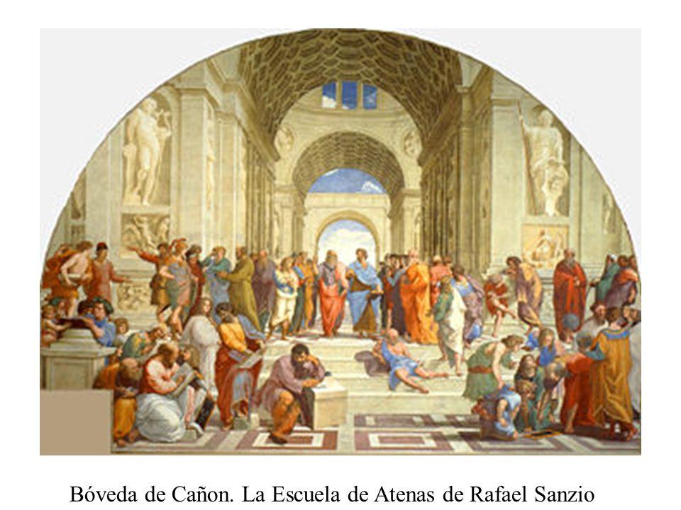 Bóveda de Cañon. La Escuela de Atenas de Rafael Sanzio