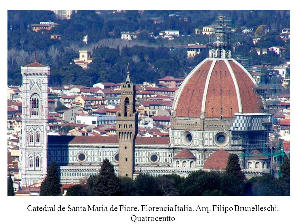 Catedral de Santa Maria de Fiore. Florencia Italia. Arq. Filipo Brunelleschi. Quatrocentto
