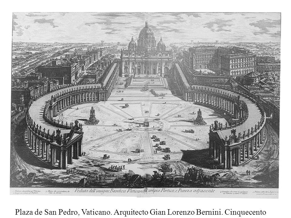 Plaza de San Pedro, Vaticano. Arquitecto Gian Lorenzo Bernini. Cinquecento