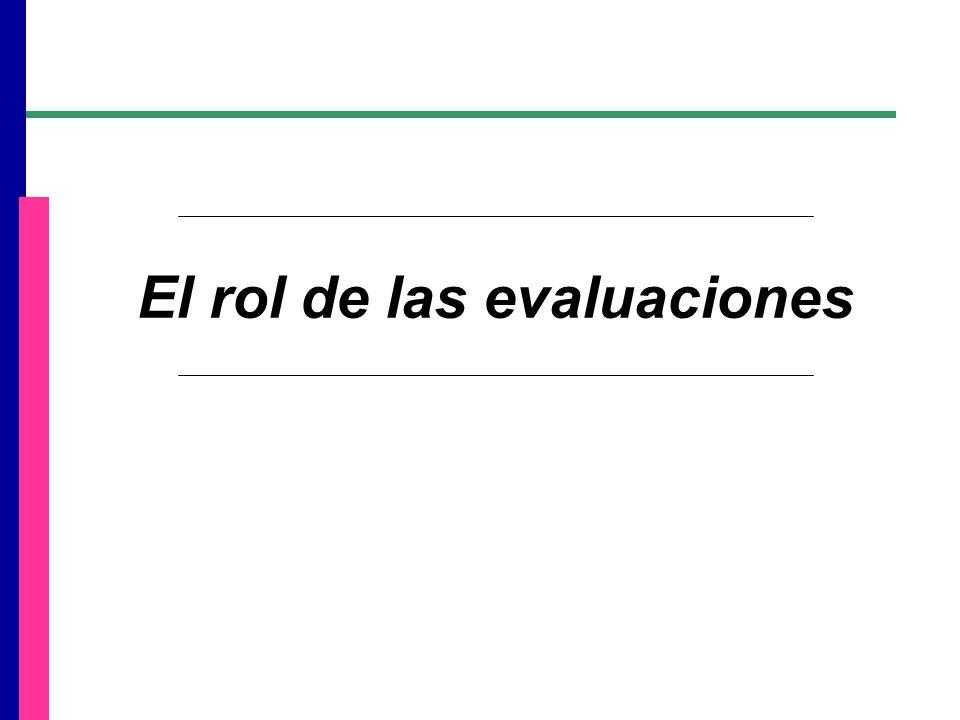 El rol de las evaluaciones