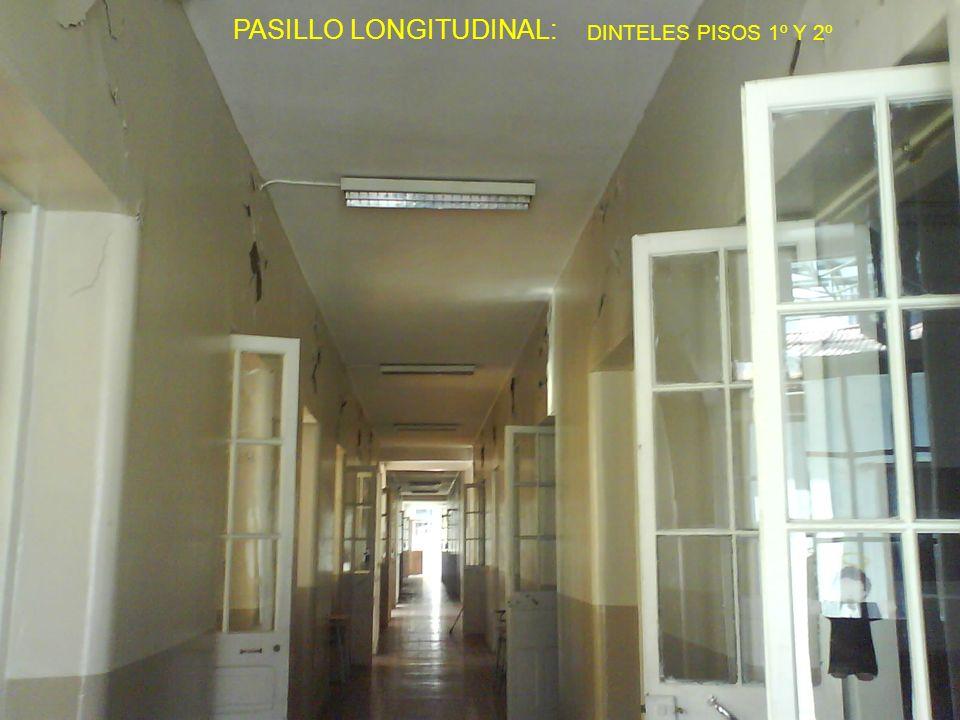 PASILLO LONGITUDINAL: DINTELES PISOS 1º Y 2º